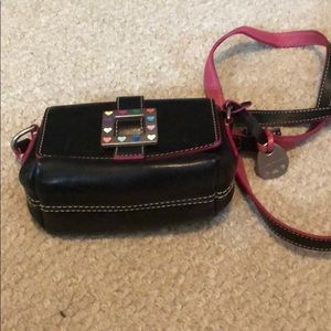 Small black square bag